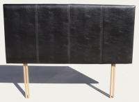 Lifestyle Living Brown Faux Leather 4ft6'' Double Headboard